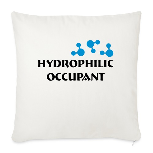 Hydrophilic Occupant (2 colour vector graphic) - Sofa pillow with filling 45cm x 45cm