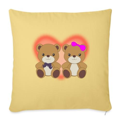 Orsetti con cuore - Cuscino da divano 44 x 44 cm con riempimento
