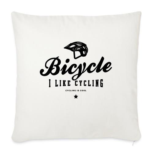 bicycle - Poduszka na kanapę z wkładem 44 x 44 cm
