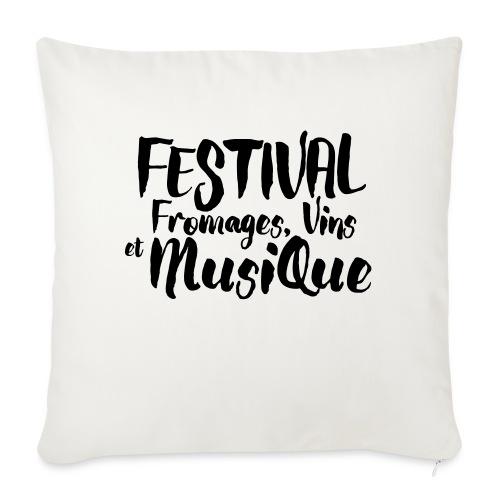 Festival FVM - Coussin et housse de 45 x 45 cm