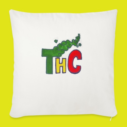 THC logo one - Cuscino da divano 44 x 44 cm con riempimento