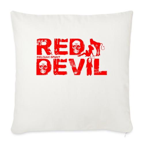 BELGIAN-RED-DEVIL - Coussin et housse de 45 x 45 cm