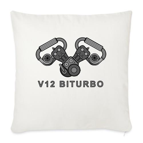 V12 BITURBO - Cuscino da divano 44 x 44 cm con riempimento