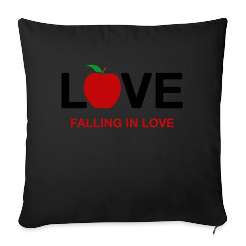 Falling in Love - Black - Sofa pillow with filling 45cm x 45cm