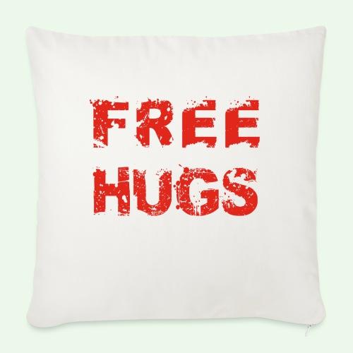 Free Hugs // Flirten // T-Shirt - Sofakissen mit Füllung 44 x 44 cm