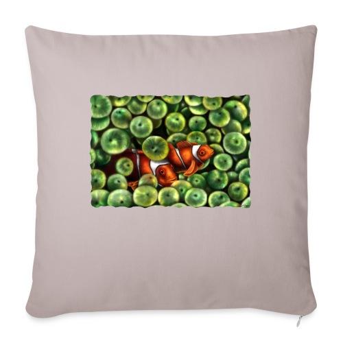 Pesci Pagliaccio - Cuscino da divano 44 x 44 cm con riempimento