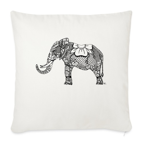 Éléphant oriental - Coussin et housse de 45 x 45 cm