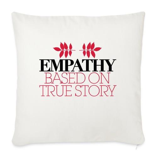 empathy story - Poduszka na kanapę z wkładem 44 x 44 cm