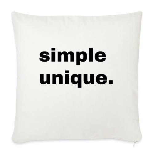 simple unique. Geschenk Idee Simple - Sofakissen mit Füllung 44 x 44 cm
