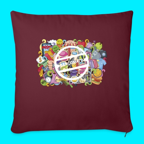 maglia logo doodle - Cuscino da divano 44 x 44 cm con riempimento
