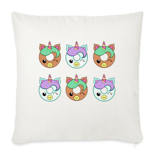 Unicorn Donut - Cuscino da divano 44 x 44 cm con riempimento
