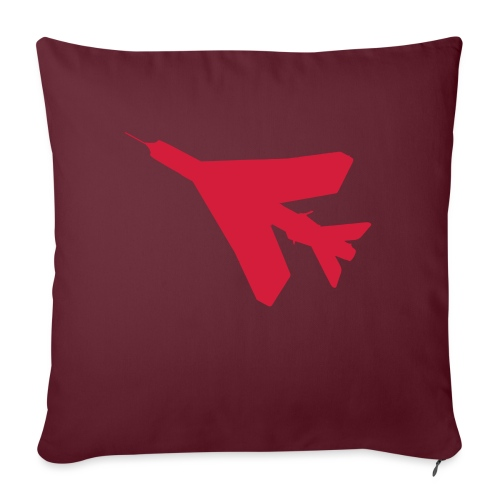 BAC English Electric Lightning Silhouette - Sofa pillow with filling 45cm x 45cm