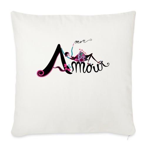 Love Mon Amour - Cuscino da divano 44 x 44 cm con riempimento