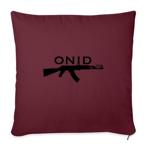 logo ONID-22 nero - Cuscino da divano 44 x 44 cm con riempimento