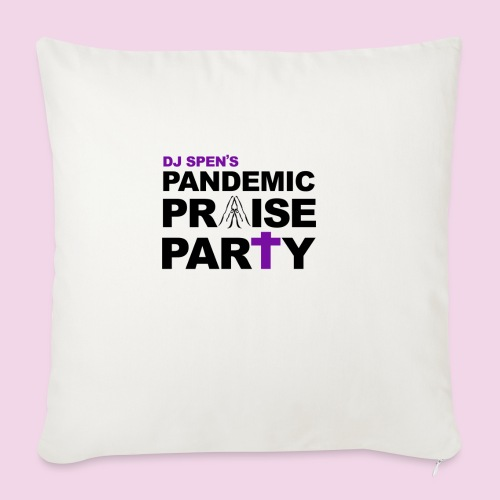 Pandemic Praise Party Logo - Sofa pillow with filling 45cm x 45cm
