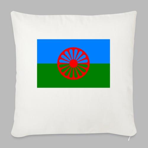 Flag of the Romani people - Soffkudde med stoppning 44 x 44 cm