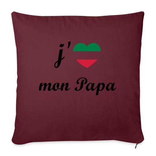 J'aime mon papa - Italia - Coussin et housse de 45 x 45 cm