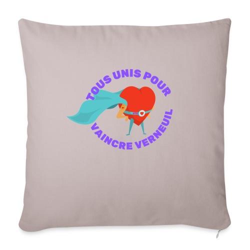 Tous Unis pour Vaincre verneuil violet - Coussin et housse de 45 x 45 cm
