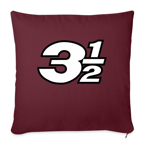 Three and a Half Logo - Sofa pillow with filling 45cm x 45cm
