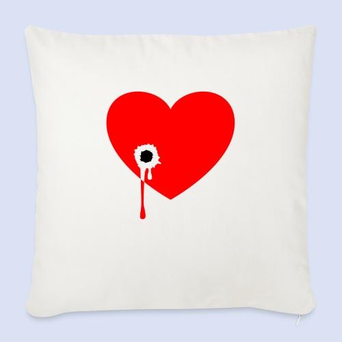 Cœur troué - Coussin et housse de 45 x 45 cm