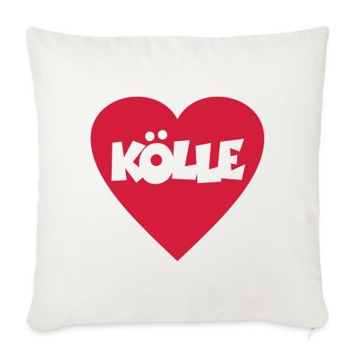 I Love Kölle - Ein Herz für Köln - Sofakissen mit Füllung 44 x 44 cm