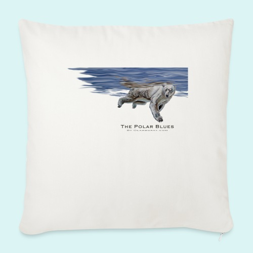 Polar-Blues-SpSh - Sofa pillow with filling 45cm x 45cm