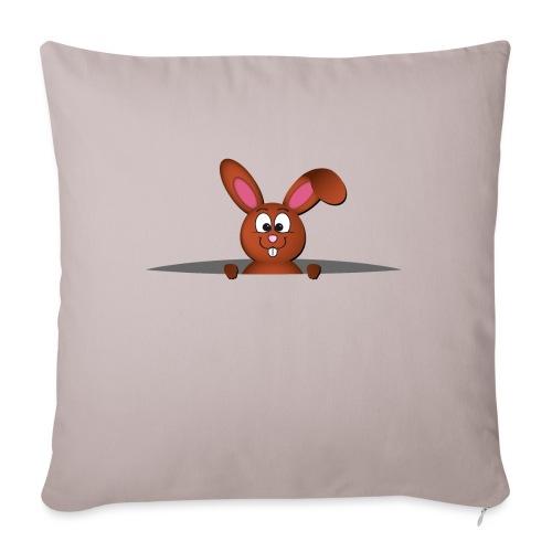 Cute bunny in the pocket - Cuscino da divano 44 x 44 cm con riempimento