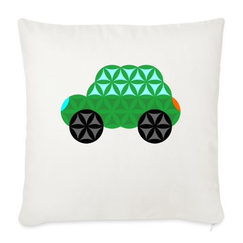 The Car Of Life - M01, Sacred Shapes, Green/363 - Sofa pillow with filling 45cm x 45cm