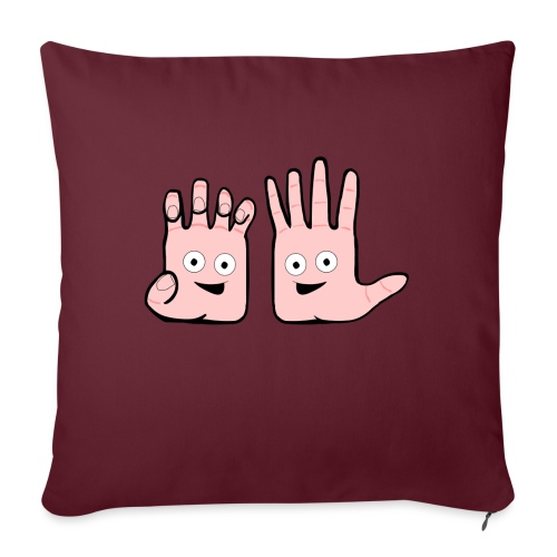 Winky Hands - Sofa pillow with filling 45cm x 45cm