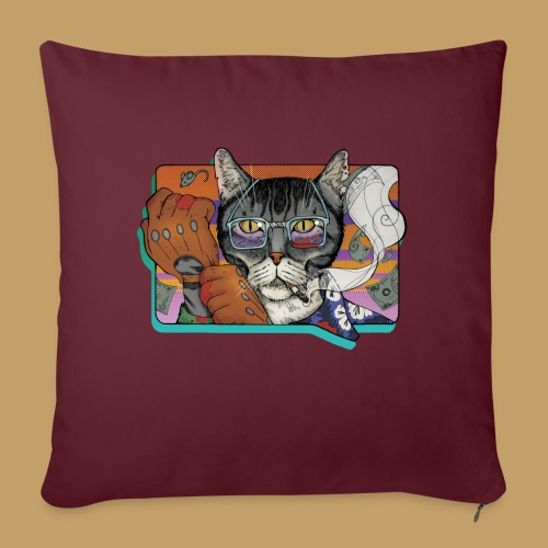 Crime Cat - Poduszka na kanapę z wkładem 44 x 44 cm