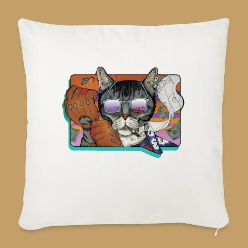 Crime Cat in Shades - Poduszka na kanapę z wkładem 44 x 44 cm