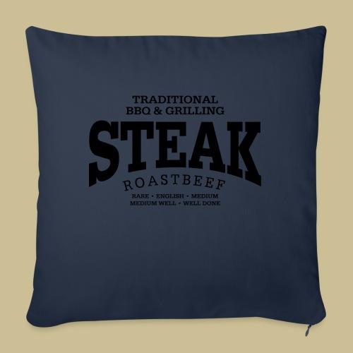Steak (black) - Sofakissen mit Füllung 44 x 44 cm