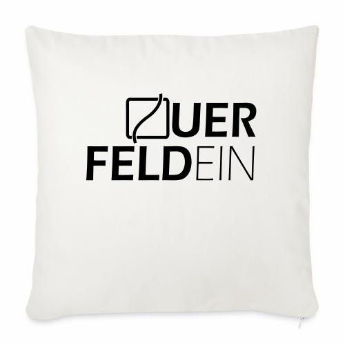 Querfeldein Logo - Sofakissen mit Füllung 44 x 44 cm