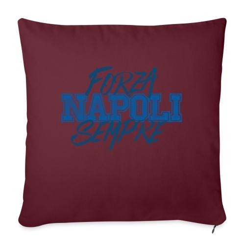 Forza Napoli Sempre - Cuscino da divano 44 x 44 cm con riempimento