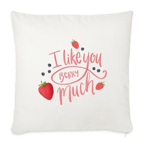 Like you berry much - Soffkudde med stoppning 44 x 44 cm