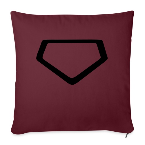Baseball Homeplate Outline - Sofa pillow with filling 45cm x 45cm