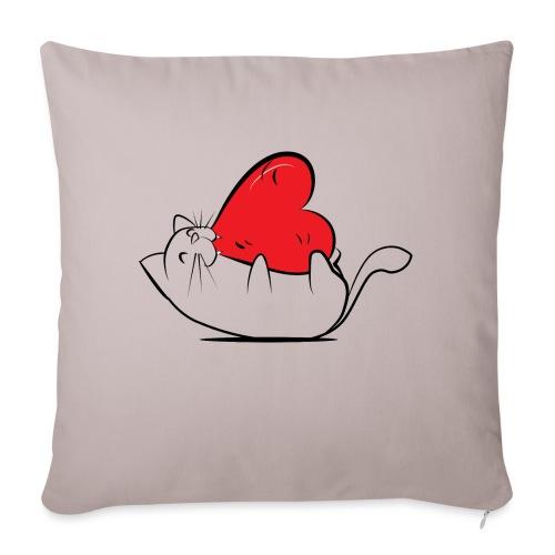 Cat Love - Bankkussen met vulling 44 x 44 cm
