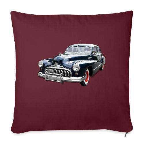 Classic Car. Buick zwart. - Bankkussen met vulling 44 x 44 cm