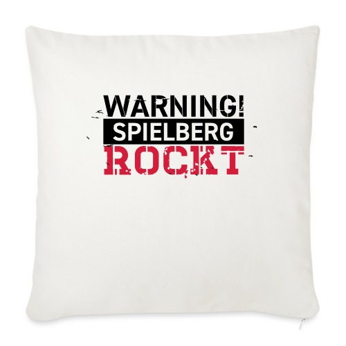 WARNING - Spielberg rockt! - Sofakissen mit Füllung 44 x 44 cm