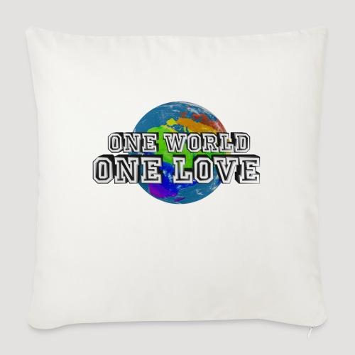 One World - One Love - Sofakissen mit Füllung 44 x 44 cm