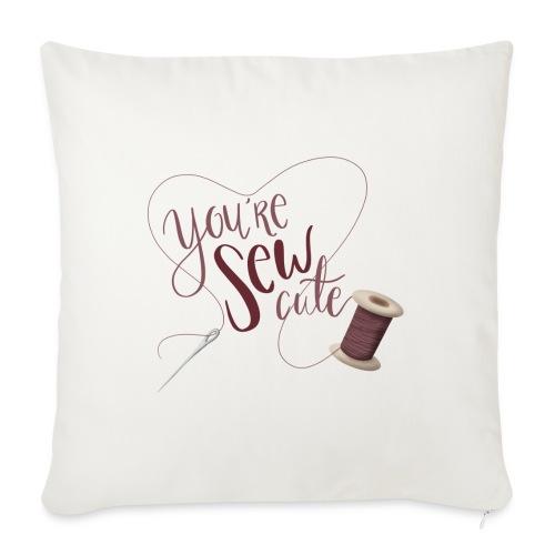 You're sew cute - Soffkudde med stoppning 44 x 44 cm