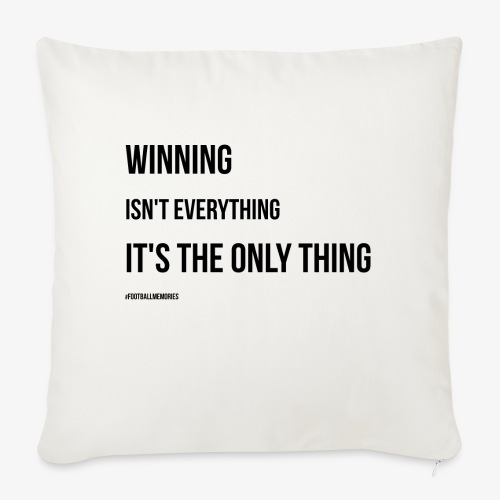 Football Victory Quotation - Sofa pillow with filling 45cm x 45cm