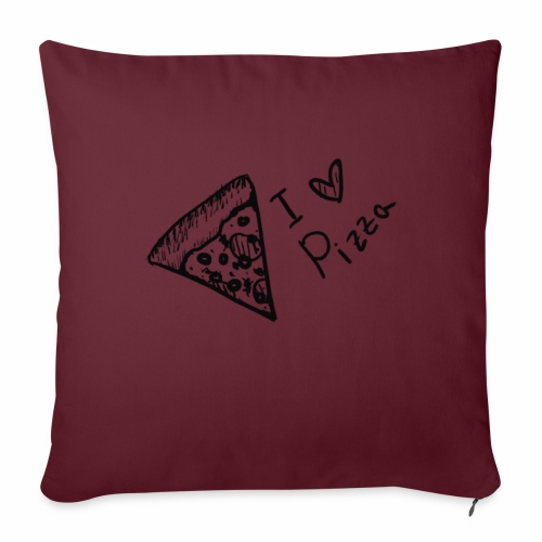 I LOVE PIZZA - Sofakissen mit Füllung 44 x 44 cm