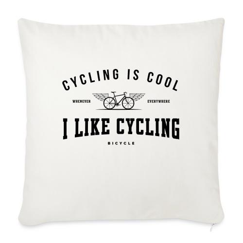 cycling - Poduszka na kanapę z wkładem 44 x 44 cm