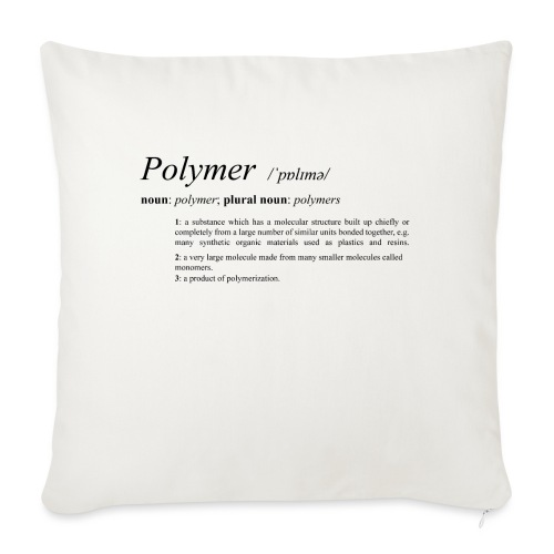 Polymer definition. - Sofa pillow with filling 45cm x 45cm