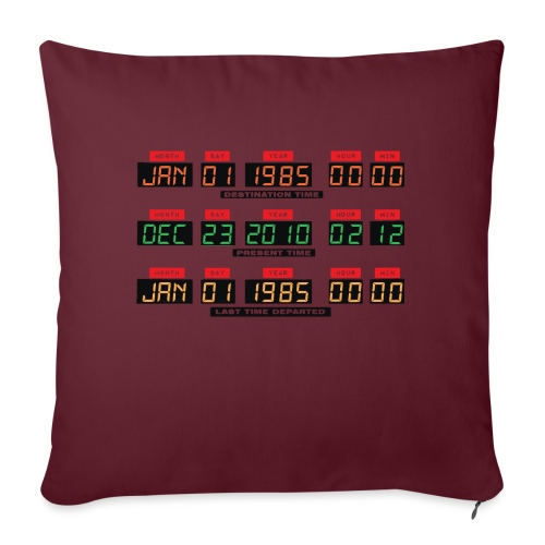 Back To The Future DeLorean Time Travel Console - Sofa pillow with filling 45cm x 45cm