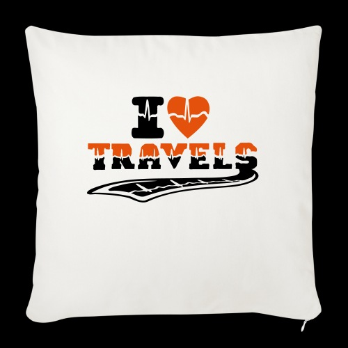 i love travels surprises 2 col - Sofa pillow with filling 45cm x 45cm