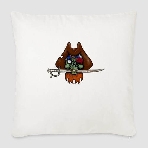 Zombie Pirate Skull - Sofa pillow with filling 45cm x 45cm