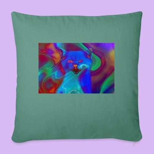 Gattino con effetti neon surreali - Cuscino da divano 44 x 44 cm con riempimento