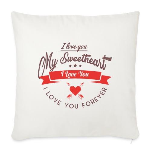 my sweetheart - Poduszka na kanapę z wkładem 44 x 44 cm